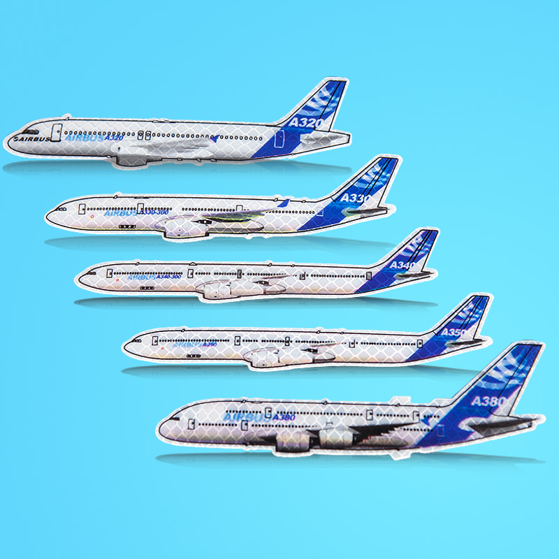 Latest Version Airbus Aircarft Models Reflective Sticker A320 / A330 / A340 / A350 / A380, Best Gift For Pilot Airman Avaiton