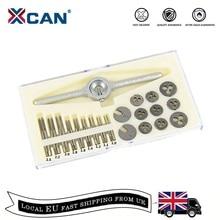 Xcan 31Pcs M1 M2.5 Metrische Tap En Sterven Set Mini Nc Schroefdraad Pluggen Kranen Hss Staal Hand Screw Tap die Wrench