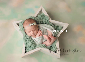 Dvotinst Newborn Baby Photography Props Wooden Posing Mini Star Tub Fotografia Accessories Studio Shoots Creative Photo Props