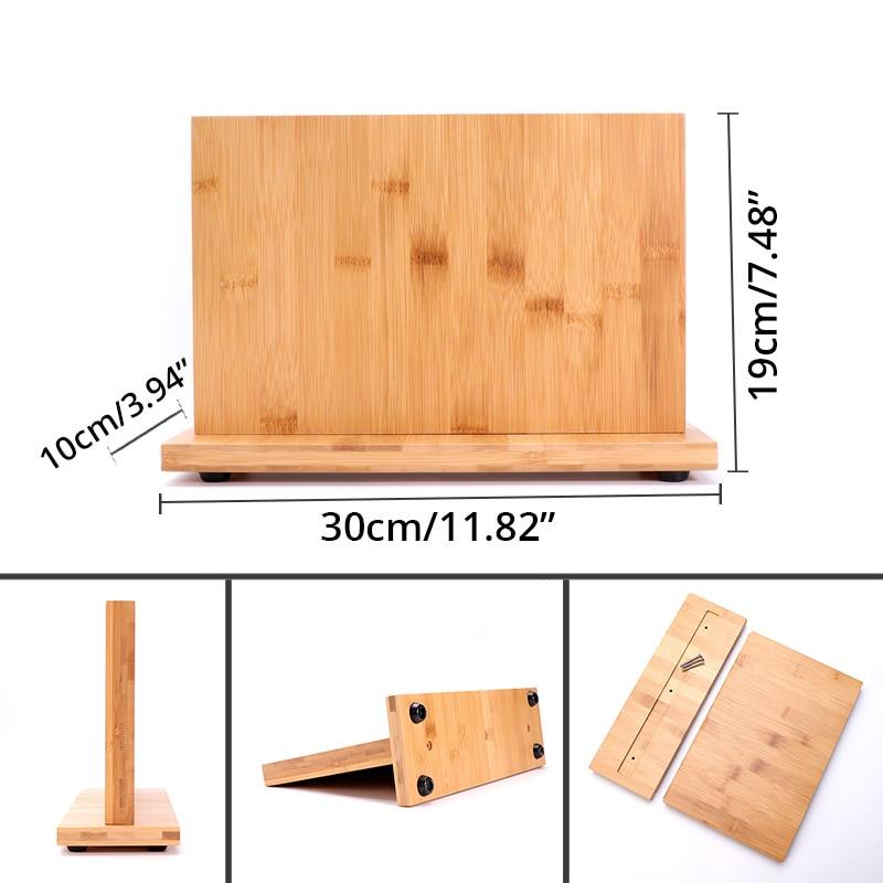 Bamboo Knife Holder Magnetic - Large Size