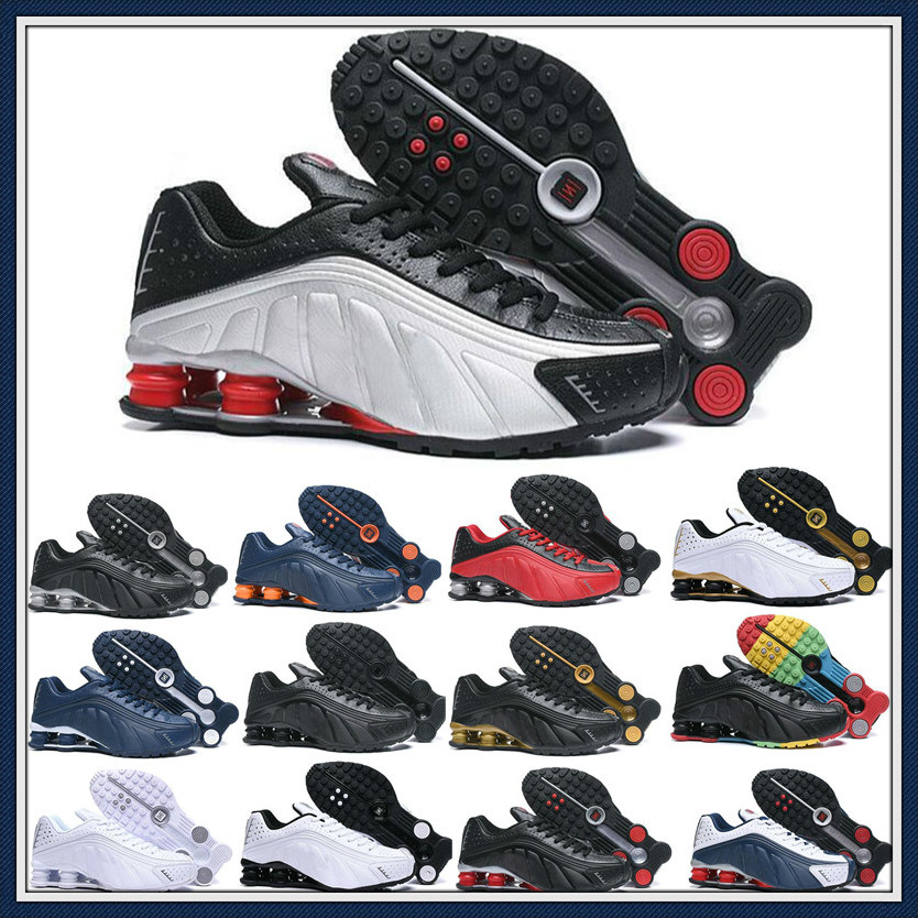 20120 New Shox R4 Designers Mens Running Shoes Luxuries NZ Sneakers Triple Black White OG Sport shoes Shoes Size EUR 40-46