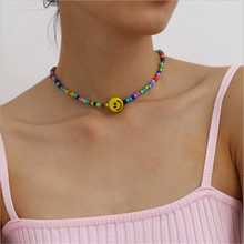 Simple Bohemian Colorful Seed Bead Flower Choker Necklace Women Statement Collar Clavicle Chain Necklace for Women Jewelry flower bead teardrop choker necklace