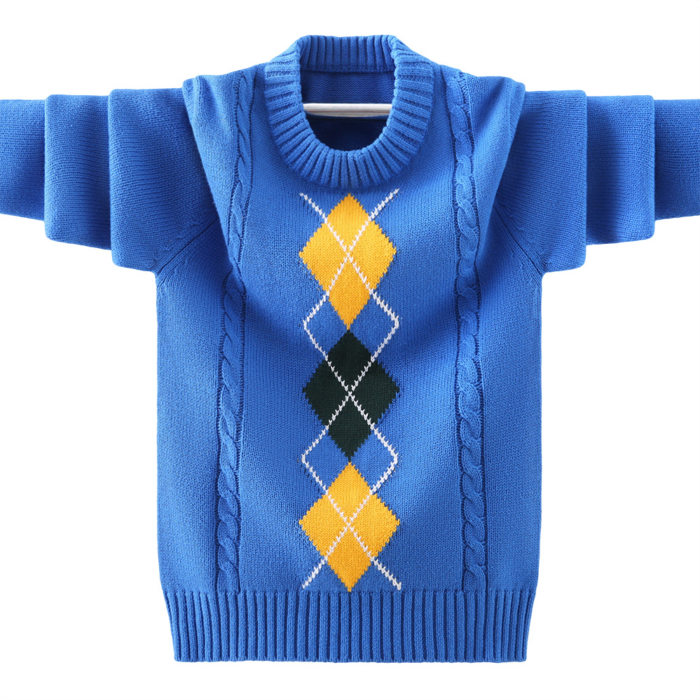 boys pullover knitting  Sweater Children's sweater  Winter Children's clothing New  Cotton Clothing Keep warm O-Neck Sweater 5