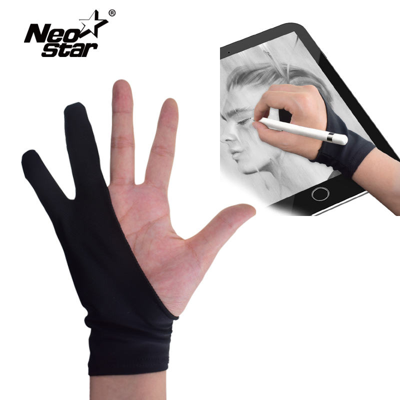 Artist Drawing 2 Finger Glove Trendy Graphics Drawing Art Student Pen Tablet Pad