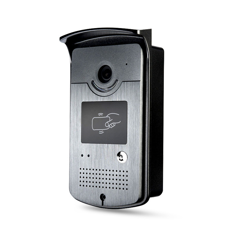 Wired Video Door Phone Intercom System Code Doorbell Camera With CMOS Night Vision Reader Card for XSL-ID Entrance Machine