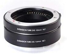 FOTGA automatyczne ustawianie ostrości AF pierścienie pośrednie makro DG zestaw 10mm 16mm pierścień pośredniczący do Sony e mount NEX7