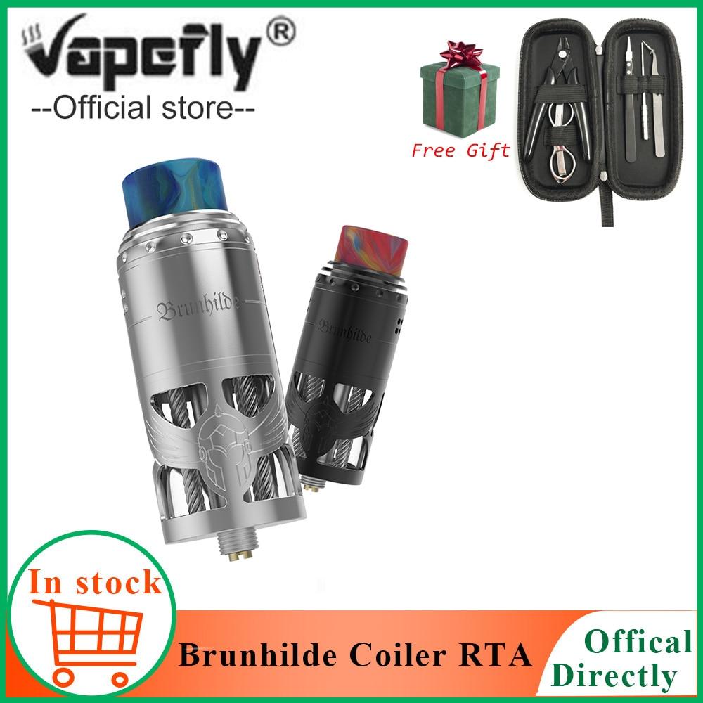 Free gift E Cigarette Vape atomizer Vapefly Brunhilde Top Coiler RTA 2ML 8ml Top Airflow Dual