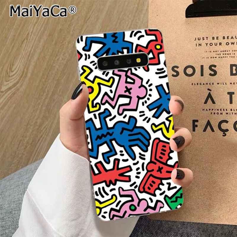 Maiyaca Keith Haring Nghệ Thuật Fundas Ốp Lưng Điện Thoại Dành Cho Samsung S7 Edge S8 S9 S10 S20 Plus S10 Lite S10 5G