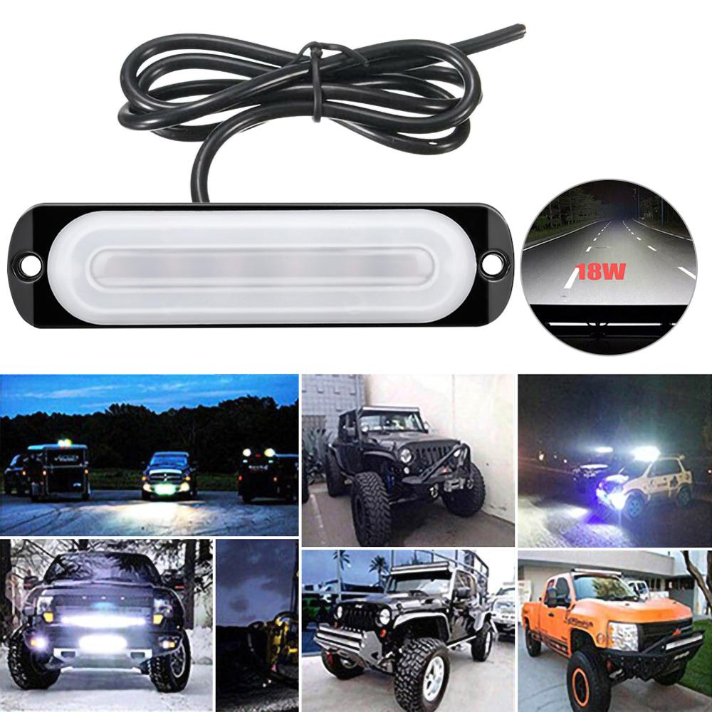 18W 12V  6 LED Work Light Bar 4WD Led Bar Spot Light Driving Fog Lamp For Truck ATV Car Roof Offroad Car Emergency Lights