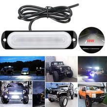 цена на 18W 12V  6 LED Work Light Bar 4WD led bar Spot light Driving Fog Lamp for Truck ATV Car Roof Offroad Car Emergency Lights