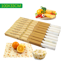 Beeswax fresh wrap cloth food storage organic cotton bee wrap bees wax wrap reusable cling film packaging Fresh food zero waste