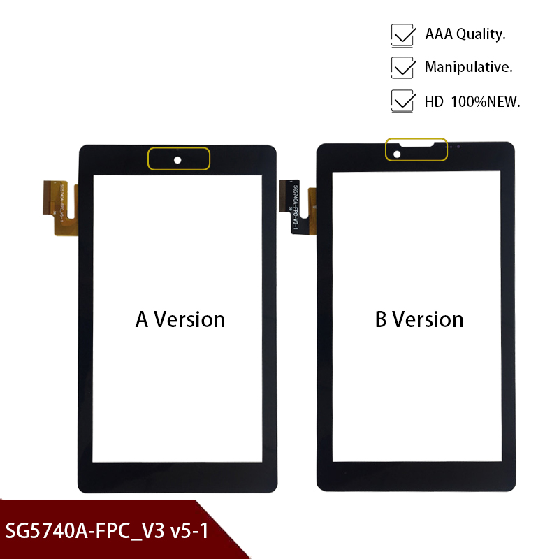 Original 7''inch Touch Screen Touch Digitizer Replacement Glass Panel For SG5740A-FPC_V3-1 / SG5740A-FPC_ V5-1 Free Shipping