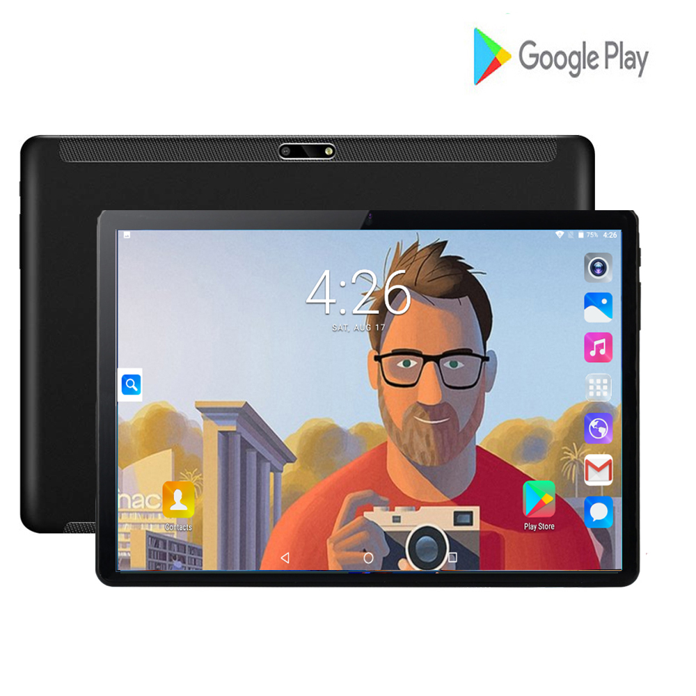 2020 New 10 Inch Tablets Pc Large Screen Quad Core 32GB Tablets Android 7.0 OS WiFi GPS 3G WCDMA Phone Video Call Dual SIM Tab