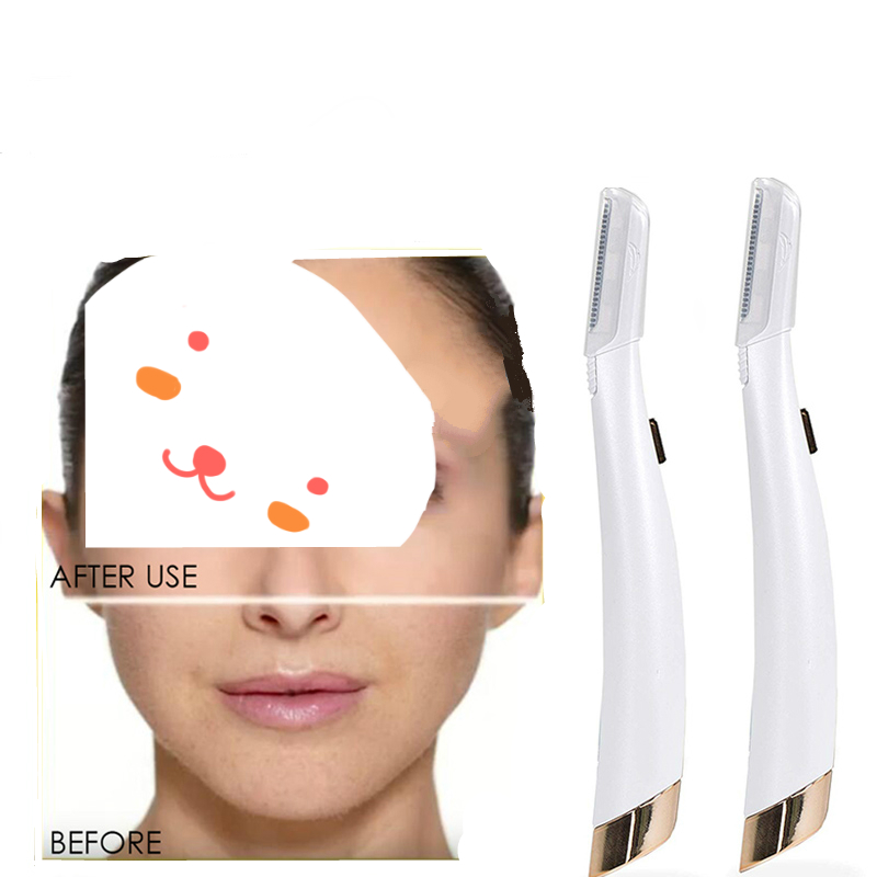 Hair Remover Lighted Facial Expoliator Electric Lady Shaver Razor Face Hair Shaver Painless Expoliates Dead Skin