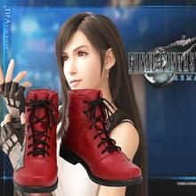 Лидер продаж новая ремейка последней фантазии vii красная обувь