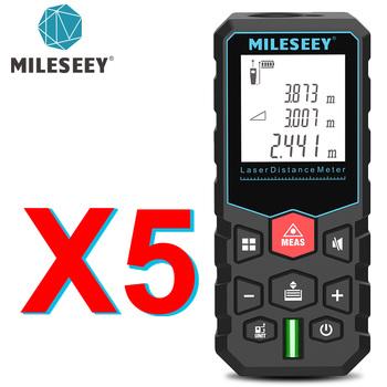 Mileseey-Laserowy elektroniczny dalmierz ruletka cyfrowy taśma pomiarowa pomiar odległości tanie i dobre opinie Rohs CN (pochodzenie) 115*50*28mm etc X5 S7 S2 +-2mm Zasilany baterią