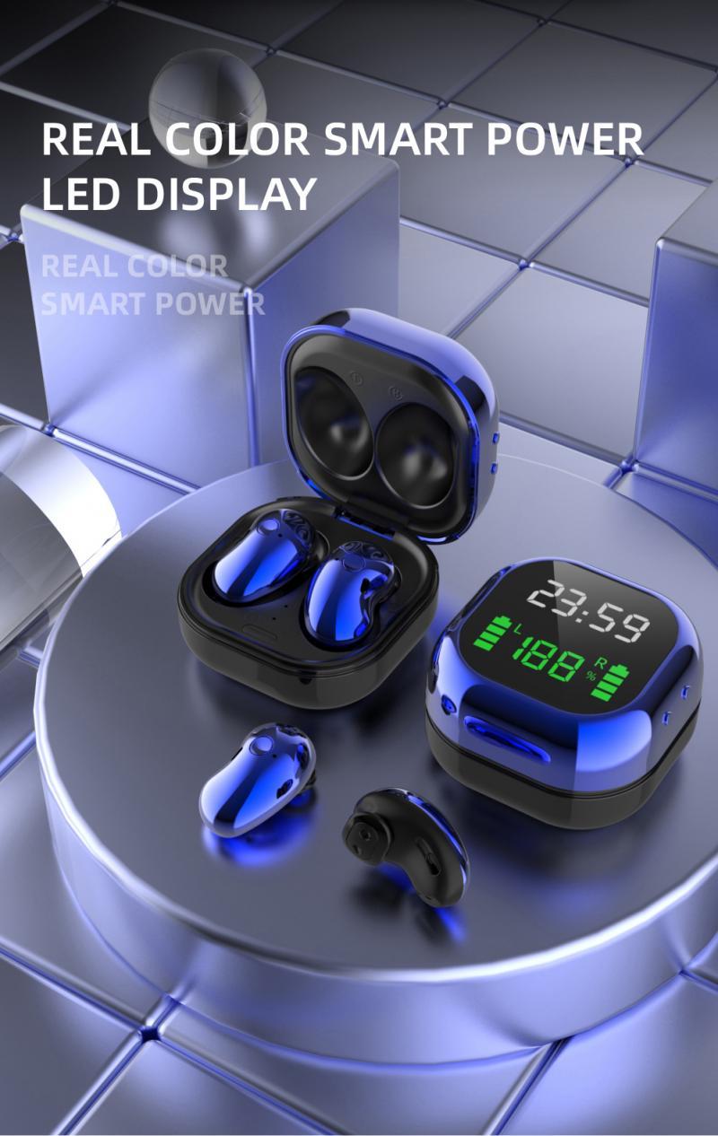 2020 yeni S6Plus TWS kulakiçi kulaklık Bluetooth 5.1 LED ekran 6D Stereo kulaklık kablosuz kulaklıklar
