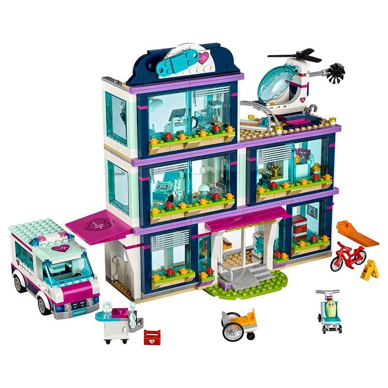 Hot 932pcs 37036 Heartlake City Park Love Hospital Girl 41318 Friends Building Bricks Children Toys Gift
