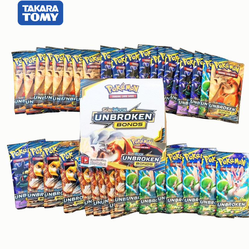 324 Cards Pokemon Card TAKARA TOMY The Newest Sun & Moon UNBROKEN Trading Card Game Kids Collection Toys