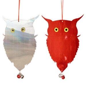 Image 5 - Garden Laser Reflective Fake Owl Supplies Hanging Reflective Owl Scarecrow Scares Bird Pigeons Woodpecker Repellent Birds