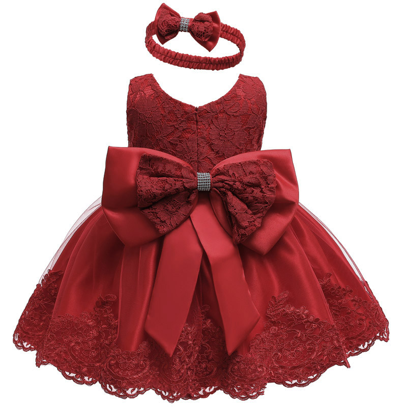 Baby Girl Dress For Baby Party Princess Dress Infant Wedding Dresses For Christening First 1 Year Birthday Dress Newborn Costume