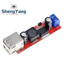 ShengYang – Module de convertisseur abaisseur DC-DC, 6V-40V à 5V, 3a, Double USB, pour chargeur de véhicule, LM2596