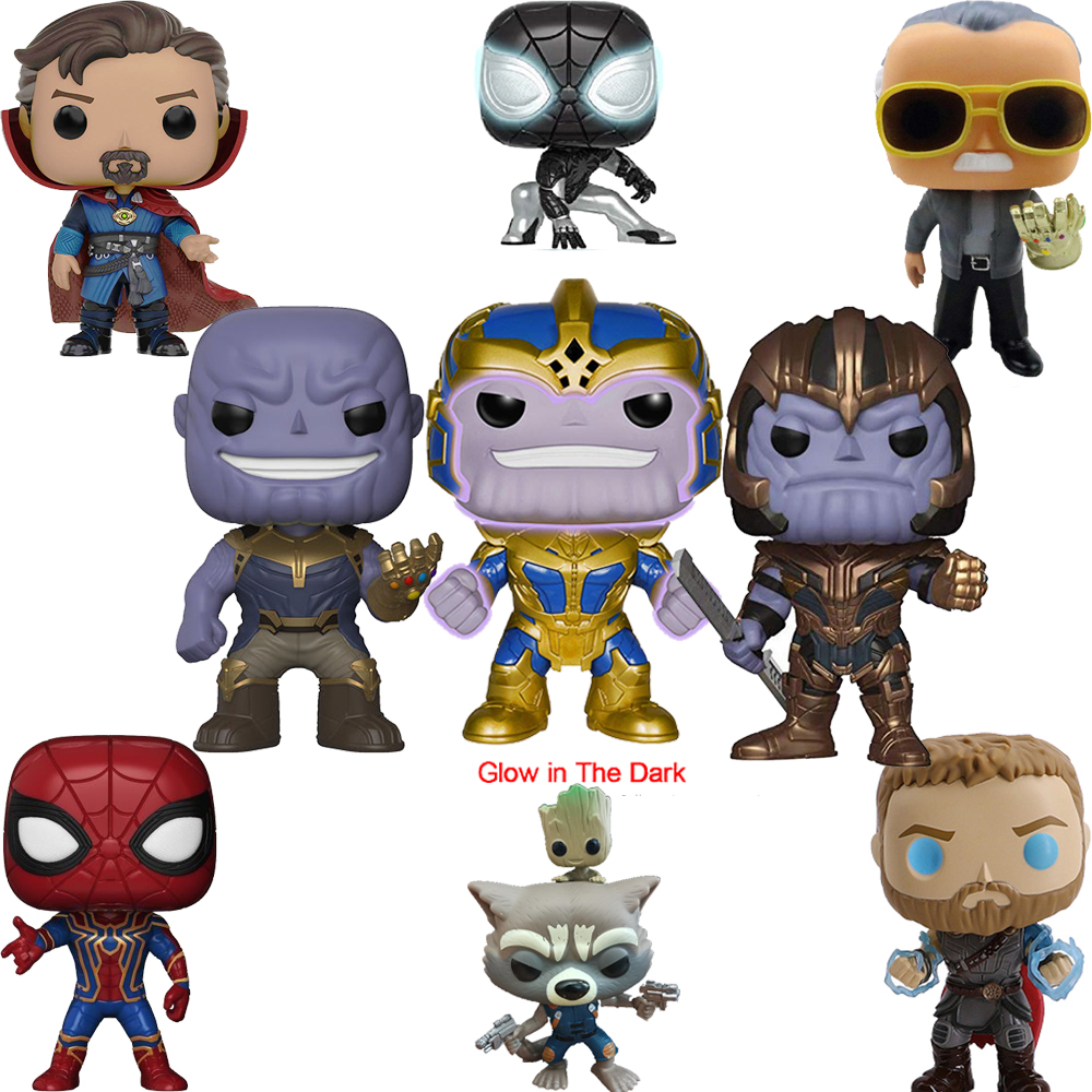 FUNKO POP Marvel Avengers Iron Man Captain America Brinquedos PVC Action Figures Collection Model Original Box Gifts Toys 2F26