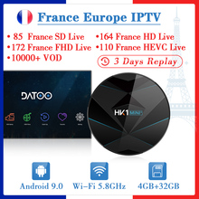 France IPTV Arabic IP TV Code DATOO HK1 MINI+ Android 9.0 BT Dual-Band WIFI French Turkey Portugal Spain