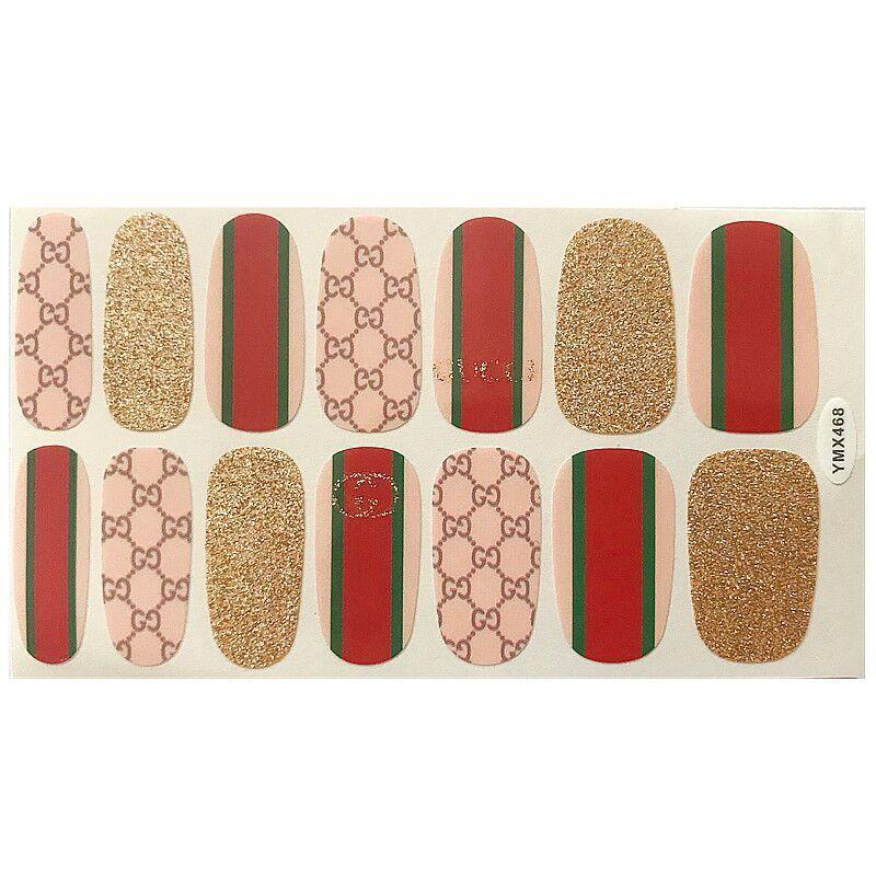 Стикеры для ногтей, дизайнерские Роскошные брендовые логотипы, фольга для ногтей, лак для ногтей, товары для профессионалов, водонепроницае...