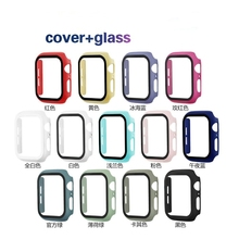 Apple Watch Series 1 / 2 / 3 / 4 / 5 / 6 / SE tempered glass + cover 44mm 40mm 42mm 38mm screen protector accessories