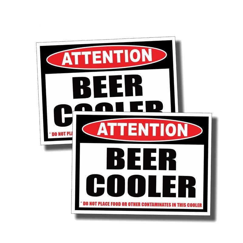 Aliauto 2 X 警告車のステッカービールのみクーラーアクセサリー PVC 3 5 6 プジョー 206 土地ローバーシートレオン、 11 センチメートル * 8 センチメートル