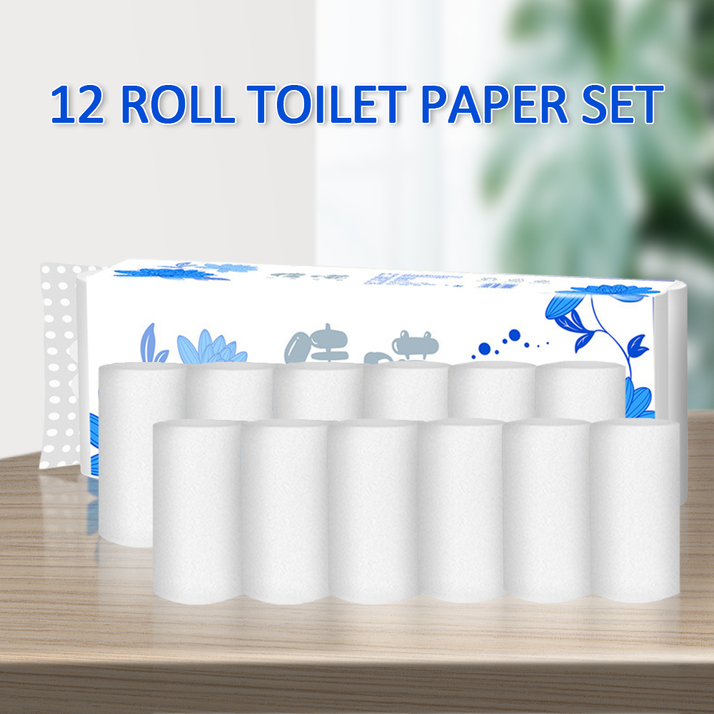 In Stocks! Roll Pack Of 12 Rolls Toilet Paper Home Bath Paper Bath Toilet Roll Paper Tissue Towel White Toilet Paper Toilet Roll