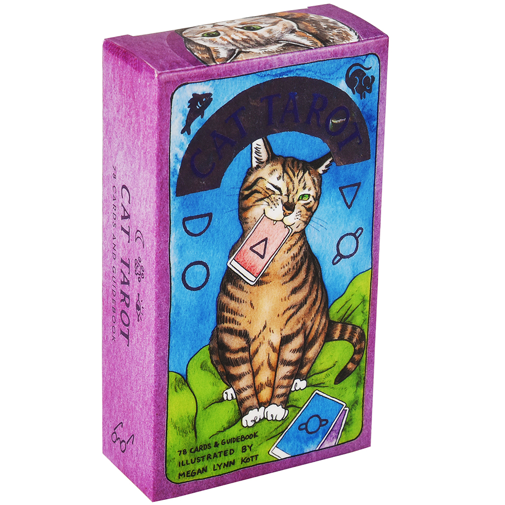 Cat Tarot 78 Cards With Guidebook Whimsical And Humorous Tarot Deck Stocking Stuffer For Kitten Lovers Divination Board Game