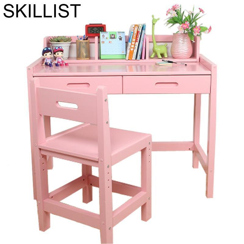 Estudar Furniture Cuadros Infantiles Tablo Escritorio Estudo Tavolino Bambini Infantil Wooden Enfant Mesa Desk Study Kids Table