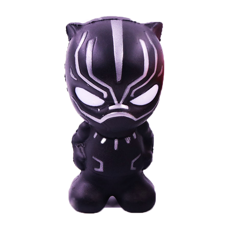 Kawaii Jumbo Marvel Black Panther Squishy Spiderman Soft Slow Rising Scented Phone Straps Stress Relief Squeeze Toy Kid Gift Toy