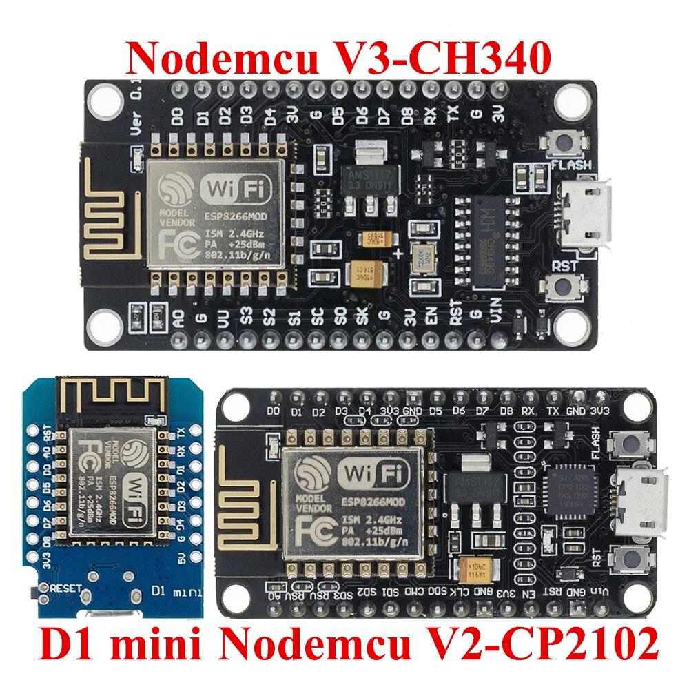 ESP8266 ESP32 CP2102 CH340 NodeMcu V3 V2 D1 MINI Lua беспроводной WIFI модуль Разъем макетная плата CP2102 ESP-12E Micro USB
