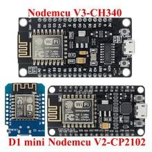 Kablosuz modülü CH340/CP2102 NodeMcu V3 V2 Lua WIFI şeylerin Internet kalkınma kurulu tabanlı ESP8266 ESP-12E pcb ile anten