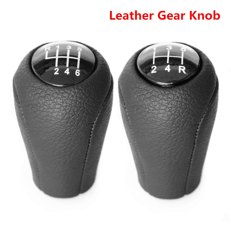 Leather 5/6-Speed Gear Shift Knob for MAZDA 3 BK BL 5 CR CW 6 II GH CX-7 ER MX-5 NC III 23 MT Leather Shifter Lever Arm Headball