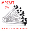 20 шт. MF52AT MF52 B 3950 NTC термистор термальный резистор 5% 1K 2K 3K 4,7 K 5K 10K 20K 47K 50K 100K датчик температуры