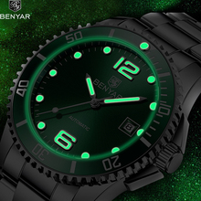 BENYAR 2019 New Men's Watches Sport Military Watch Men Automatic Mechanical Watch Mens Wristwatch Waterproof Clock Reloj Hombre