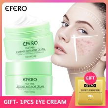EFERO Repair Acne Treatment Face Cream Tea Tree Face Serum Oil Control Shrink Pores Deep Moisturizing Whitening Skin Care Cream