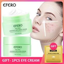 EFERO Repair Acne Treatment Face Cream Tea Tree Face Serum Oil Control Shrink Pores Deep Moisturizing Whitening Skin Care Cream
