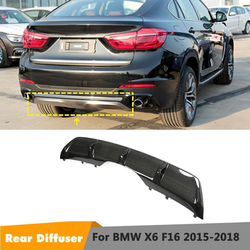 X6 F16 Rear Diffuser Spoiler For BMW X6 F16 Standard Bumper Lip 2015 2016 2017 2018 Body Kit Bodykit Splitter image