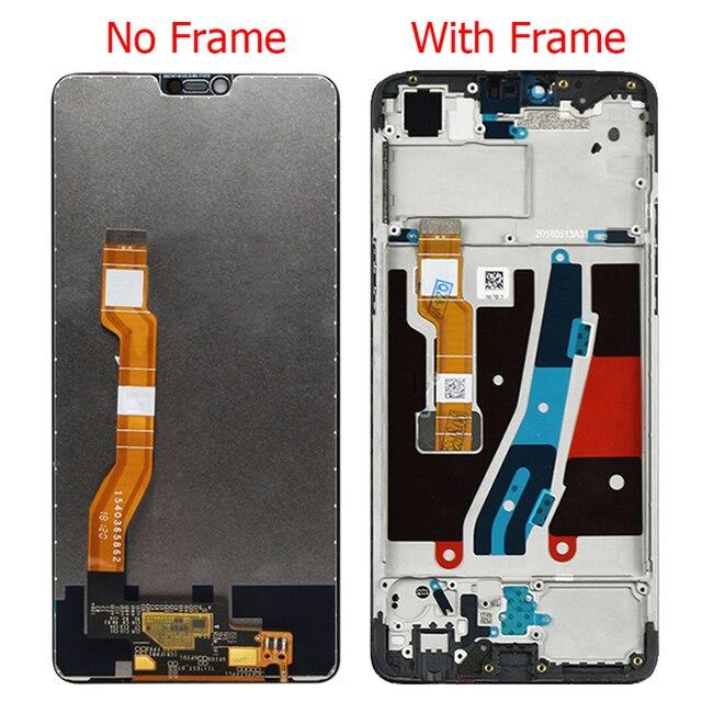 """Display original para oppo a3 f7 lcd com quadro 6.23 """"oppo f7 cph1819 cph1821 a3 cph1837 montagem da tela de toque"""