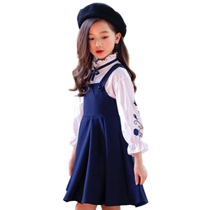 Image 1 - בנות בגדי סט רקמת חולצה + שמלת 2 Pcs חליפת סתיו עבור בנות מקרית ילדים של סט חורף Teen בנות בגדי 4 6 8 12