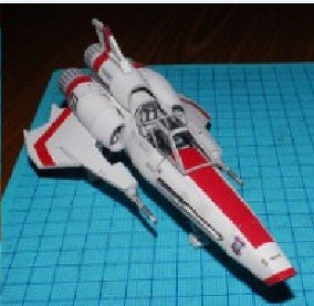 Star Wars Mark2 VIPER FIGHTER BATTELSTAR GALACTICA IN THE 1980 Hyperfine Paper Model DIY Toy