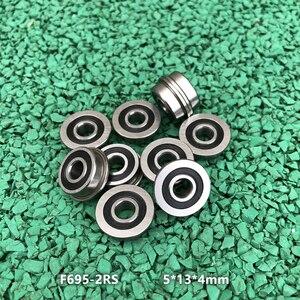 200/300 шт. F695-2RS подшипник 5*13*4 мм ABEC-7 фланцевый миниатюрный F695 RS F695RS упорные шариковые подшипники для VORON Mobius 2/3 3D печати