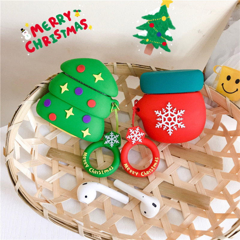 Image 3 - For airpods case Fundas For Airpods 2 case cover cute 3D Wireless Bluetooth Headphones Protective Cover Silicone Earphone Case-in Earphone Accessories from Consumer Electronics