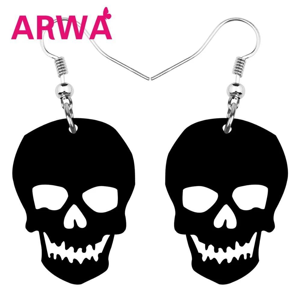 Skull and Bone Halloween Charm Earrings