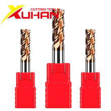 Fresa de extremo de carburo HRC55 1 2 4 5 6 8 10 12mm 4 flautas, fresa, recubrimiento de aleación, herramienta de corte de acero de tungsteno, fresadora CNC